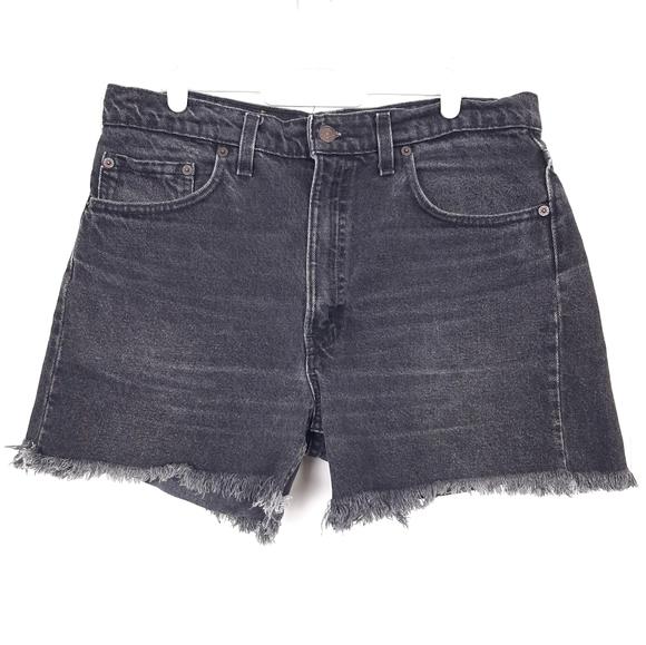 Vintage Levi's black high waisted cutoff shorts